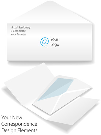 Virtual corporate business letter envelope stationery Stock Vector - 7794504