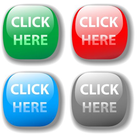 Choose from 4 CLICK HERE buttons website set Stock Vector - 7897946