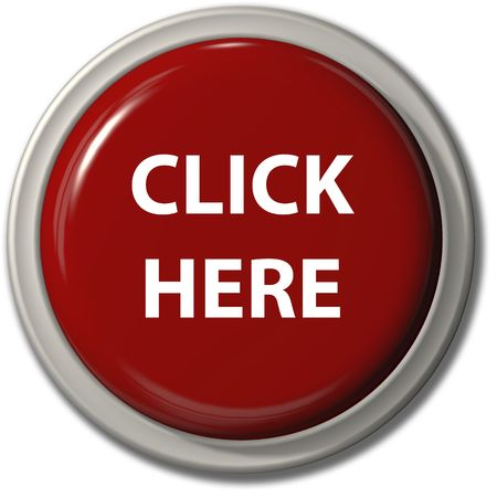 website buttons: A big bright red CLICK HERE push button icon for internet website with drop shadow Stock Photo
