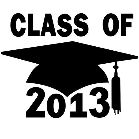 A mortar board Graduation Cap for a College or High School graduating Class of 2013. Stock Vector - 8172943