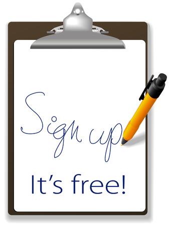 [クリップボードとペン アイコン リンクをクリックし、コピーの背景の領域でテキストとグラフィックスを追加あなたのウェブサイトに参加する無