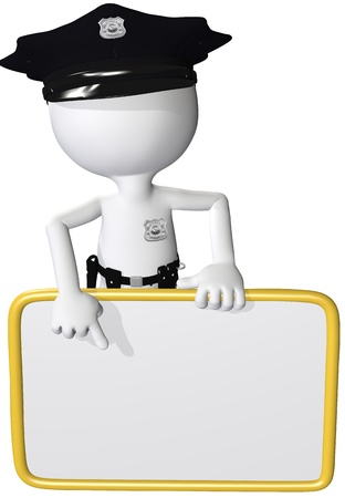 SECURITY UPDATE Your data may be at risk so obey the message on the security police sign Stock Photo