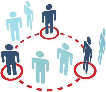 3 キー インサイダー人、社会的なメディア ネットワークにサークル接続接続します。