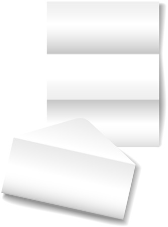 space to write: Open folded letter envelope as a stationery paper background Illustration
