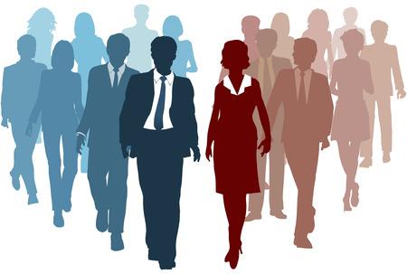 競技者またはチームとして会社の合併に参加するリソースとして事業チーム  イラスト・ベクター素材