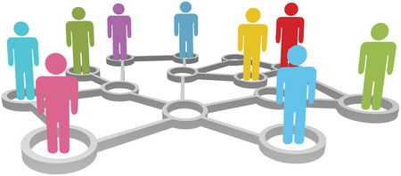 connection: Connected People collaborate in Social or Business Network Nodes