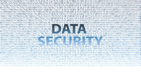 DATA SECURITY digital information technology issues background Stock Photo - 9379402