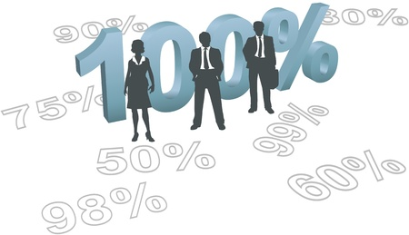 Business human resources management people ready to give all out 100 per cent effort Stock Vector - 9616792