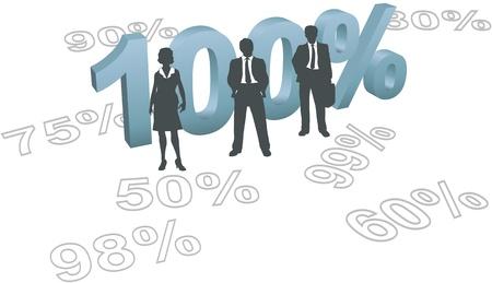 totales: Empresarios de gesti�n de recursos humanos dispuestos a dar todo esfuerzo de 100 por ciento Vectores