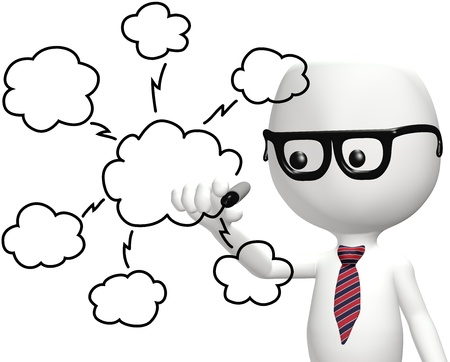 Smart IT programmer drawing cloud computing technology plan diagram Stock Photo - 9712929