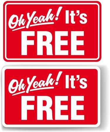 Oh Yeah Its libre escaparate de la tienda firma sombra paralela o borde blanco Ilustración de vector