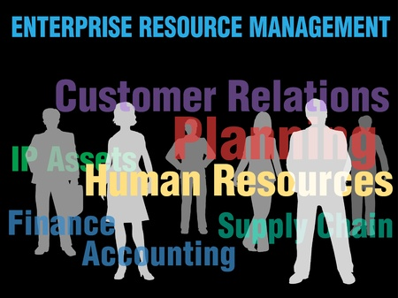 ERM Enterprise Resource Management planning financial supply chain people Vector