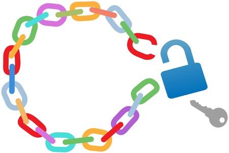 De sleutel tot een breakout ontsluit een gebroken ketting cirkel te ontsnappen