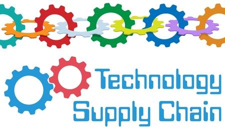 in ketten: Chain-of-G�nge bilden ein Symbol des Unternehmens SCM Supply Chain Management-Technologie