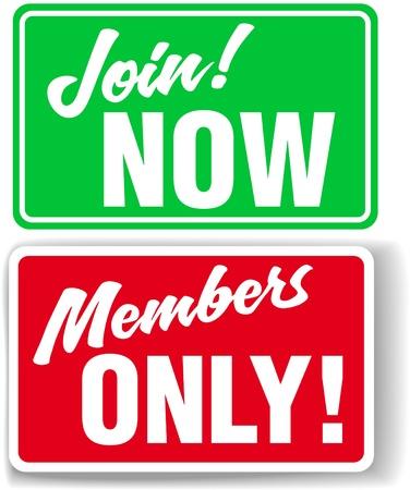 Etalage stijl tekenen uit te nodigen website gebruikers Join of de toegang tot Members Only beperken in uw keuze van slagschaduw of witte rand