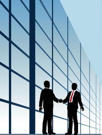 agree: Business people shake hands to agree on relationship or deal