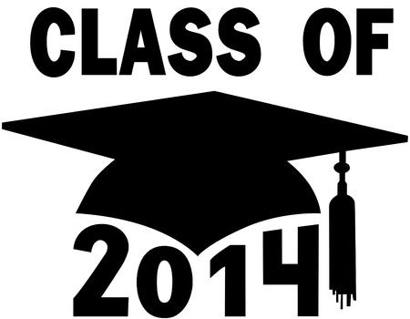 graduating seniors: Mortar board Graduation Cap for a College or High School graduating Class of 2014.