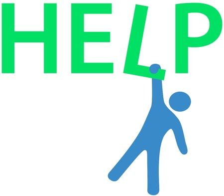 単語に掛かっている人については答えの助けを必要  イラスト・ベクター素材