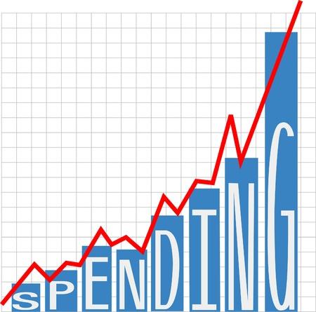 グラフの大きな政府や企業の支出の成長グラフ 写真素材 - 13109820