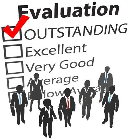 evaluation: Business-Unternehmen Menschen eine hervorragende Personalpolitik Evaluierung