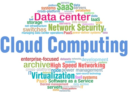 World of Cloud Computing IT technology keyword cloud tags Stock Vector - 17502742