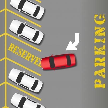 Eigen parkeerplaats plaats voor zakelijk succes auto