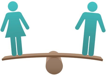 Gelijke man en vrouw gendergelijkheid evenwicht tussen de geslachten