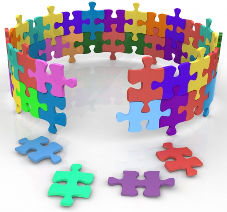 puzzling: Solution entrance to mysterious inner circle of puzzle