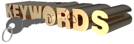 キーワード検索を開くキーの光沢のあるゴールド ロック シリンダー