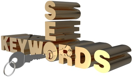 keywords: Keywords SEO key open shiny gold lock cylinder