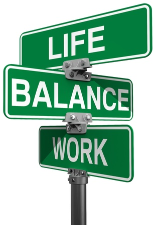 priorities: Signs choose between Work Life or Balance directions
