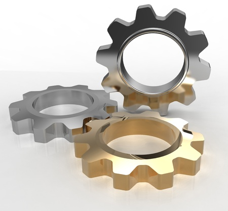 Technology gears symbol of IT engineering design with clipping-path Zdjęcie Seryjne