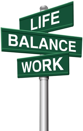 Signs choose between Work Life or Balance directions Vector