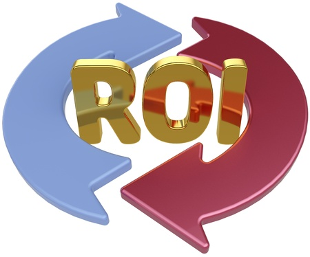 ROI Return On Investment arrows cycle