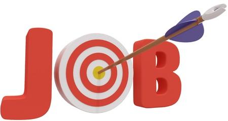 화살표는 구직에 도움이 최고의 직업 기회를 찾기 위해 황소의 눈을 원 안타 스톡 콘텐츠