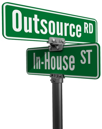 supplychain: Street signs Outsource Road versus In House Street ERM supply chain business decision
