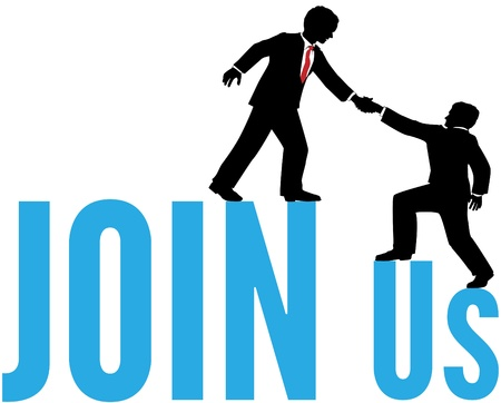 Business person helps new hire to join the team Illustration