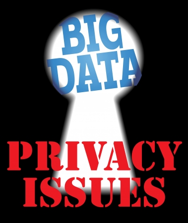 Big Data security versus privacy information technology issues Illustration