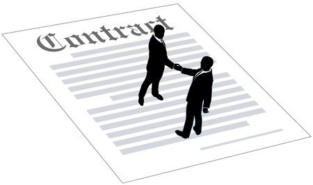 Mensen het erover eens om zakelijke overeenkomst contract deal te ondertekenen