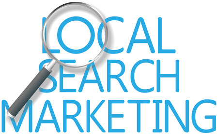 Find a Local Search Marketing solution for business Illusztráció