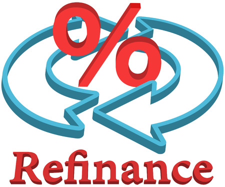 Refinance home mortgage to lower percent rate Banco de Imagens - 22683914