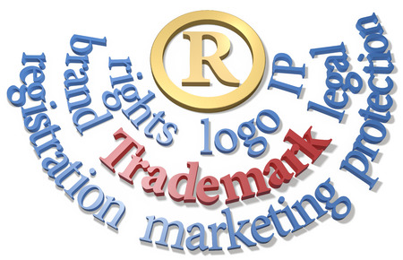intellectual property: Intellectual property Trademark R symbol in gold circle with IP words