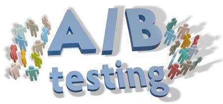 AB Testen website keuzes om variaties te testen door experiment Stockfoto - 23292341