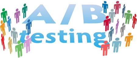 group b: A B Testing website choices to test variations by experiment