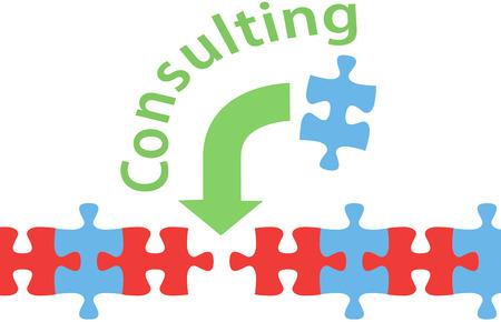 Berater kann helfen, Unternehmen zu finden, eine Lösung für Problem-Puzzle Standard-Bild - 24194339