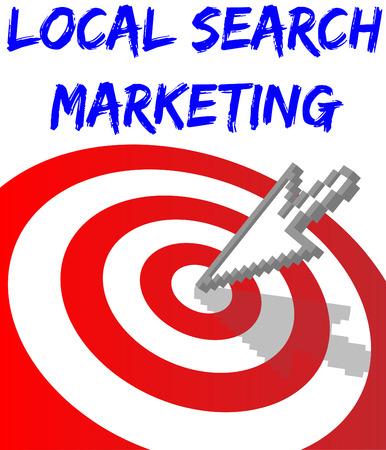 talál: Arrow találni Local Search website marketing célt Illusztráció