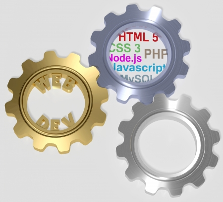Web Development PHP HTML 5 Javascript CSS 3 node MySQL Gears photo