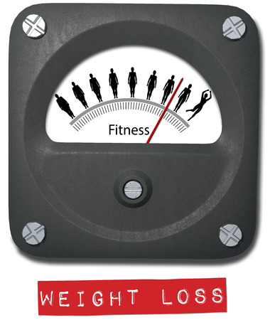 Grasa para ajustar la medida de calibre Antes Después peso dieta fitness ganancia Foto de archivo - 25701710