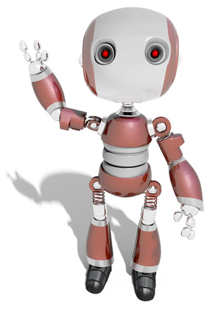 Say hello to a friendly robot technology character