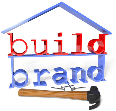 Build your business house company brand identity with ad and promotion strategy